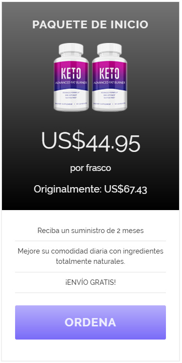 Paquete de Inicio - Ordena Keto Advanced - Oferta Exclusiva
